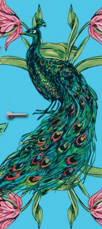 Peacock deurfolie