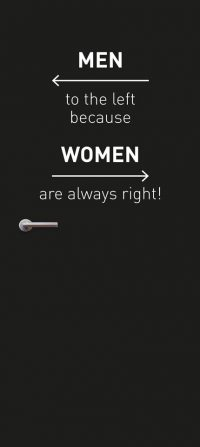 deursticker women always right