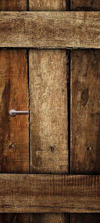 houten deur sticker