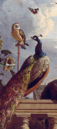 deursticker vintage vogels