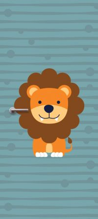kinderkamer-deursticker-leeuw-blauw