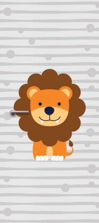 deursticker voor kinderkamer leeuw