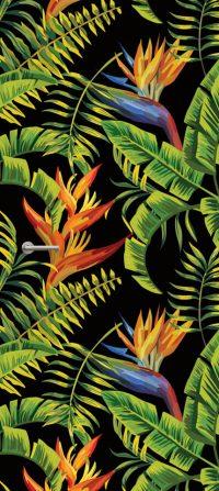 deursticker tropische planten